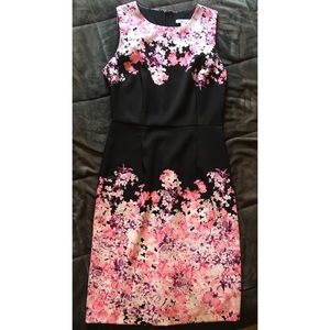 New York and Company Size 2 Pink flower dress